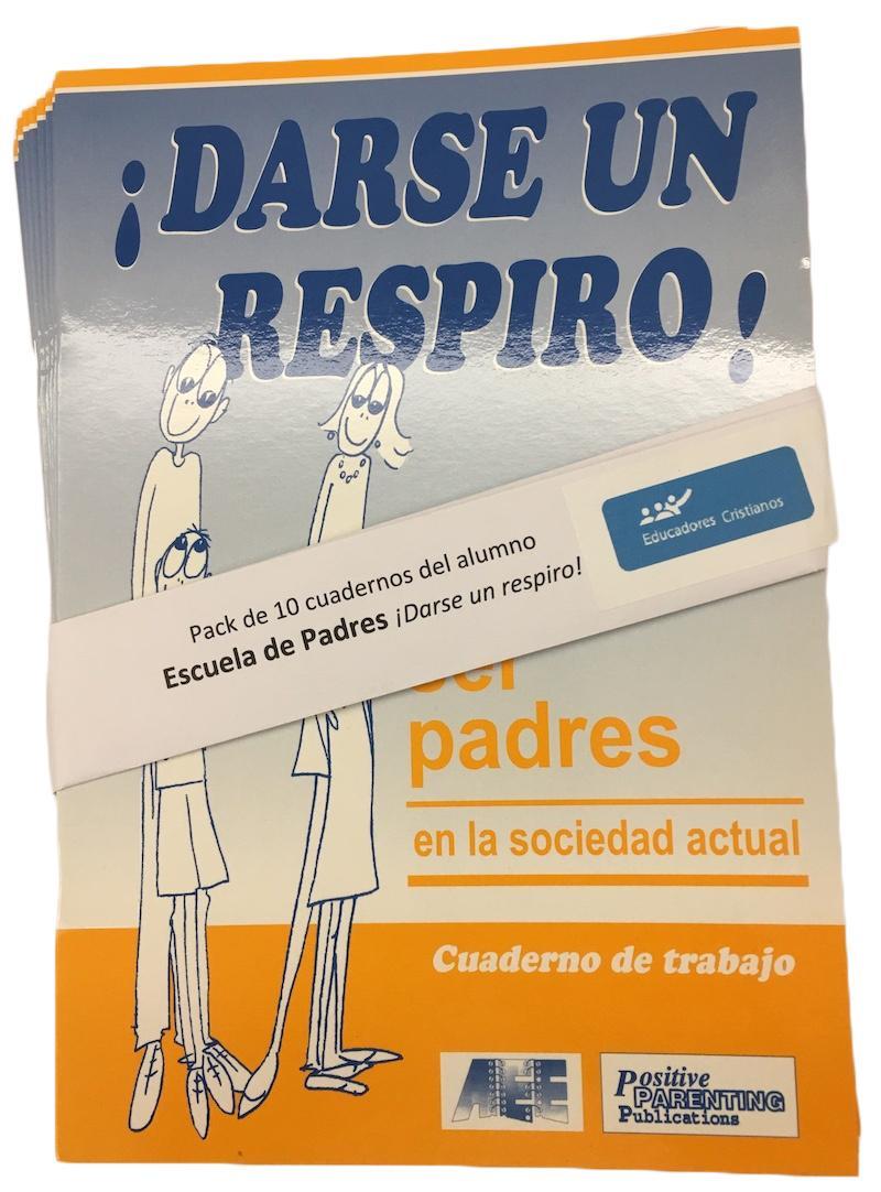 Pack de 10 Cuadernos del alumno de ESCUELA DE PADRES ¡Darse un respiro! Image